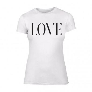 Дамска бяла тениска Love TMN-F-025 2