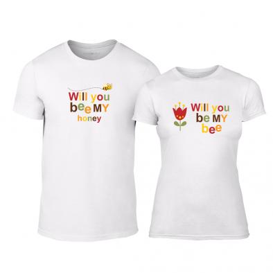 Тениски за двойки Bee & Honey бели TMN-CP-231 2