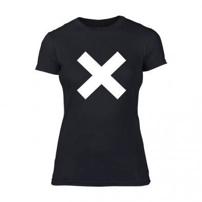 Дамска черна тениска X TMN-F-066 2