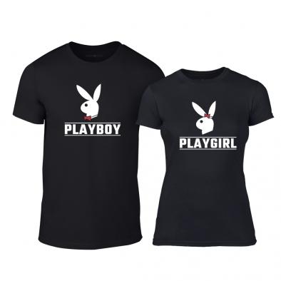 Тениски за двойки Playboy черни TMN-CP-251 2