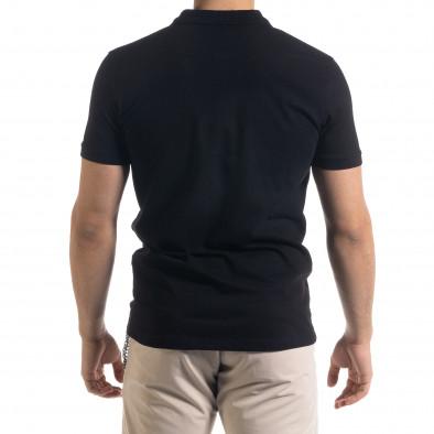 Basic мъжка черна тениска polo shirt tr110320-73 3