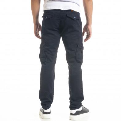 Син мъжки панталон Cargo с прави крачоли tr240420-29 4