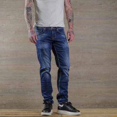 Slim fit мъжки сини дънки с леки прокъсвания tr030420-2 2