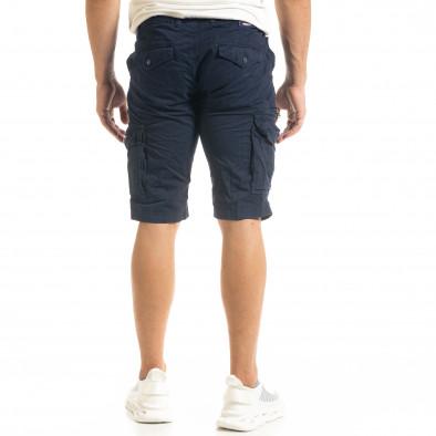 Мъжки тъмносини къси карго панталони tr140520-15 4