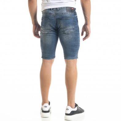 Destroyed Slim fit мъжки къси дънки с пръски боя tr240420-19 4