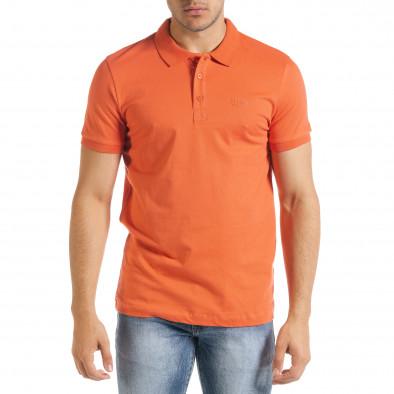 Basic polo мъжка тениска в оранжево tr080520-54 2