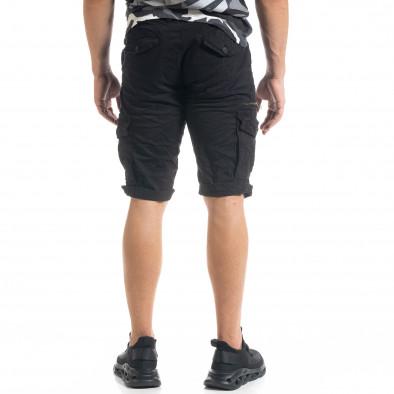 Мъжки черни  къси карго панталони tr140520-13 4
