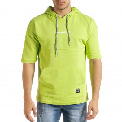 Мъжки суичър с къси ръкави неоново зелено tr080520-76 2