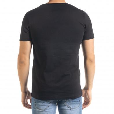 Мъжка черна тениска с принт Easier tr080520-43 3