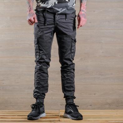 Сив мъжки Cargo Jogger в рокерски стил tr170320-1 3