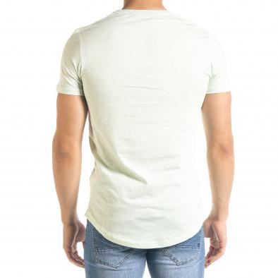 Basic O-Neck зелена тениска tr080520-36 3