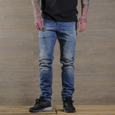Washed Slim fit мъжки сини дънки tr030420-5 3