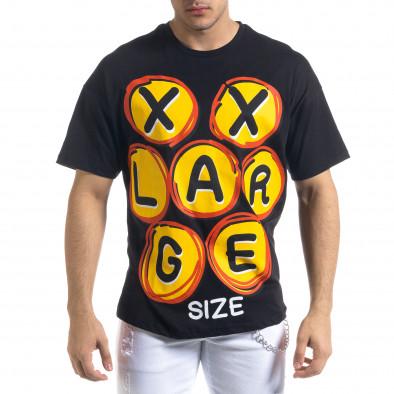 Мъжка черна тениска XXLarge Oversize tr110320-14 2