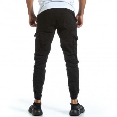 Черен Cargo Jogger панталон с ластик на кръста tr070921-16 3