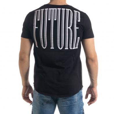Мъжка черна тениска с ципове tr110320-48 4