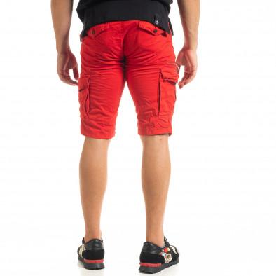 Мъжки червени къси карго панталони tr140520-14 4