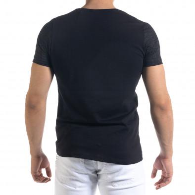 Мъжка черна тениска с принт Brooklyn tr110320-34 3