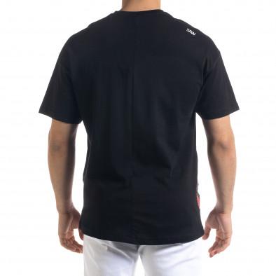 Мъжка черна тениска Signs Oversize tr110320-9 3