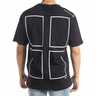 Черна тениска с графичен принт Oversize tr240420-8 3