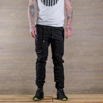 Лек мъжки панталон в черно тип джогър tr170320-6 3