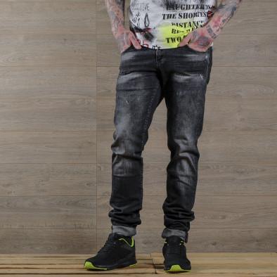 Washed Slim fit мъжки черни дънки tr030420-6 2