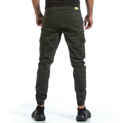 Зелен Cargo Jogger панталон с ластик на кръста tr070921-15 3
