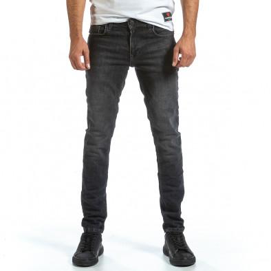 Long Slim черни дънки с избелял ефект tr070921-11 3