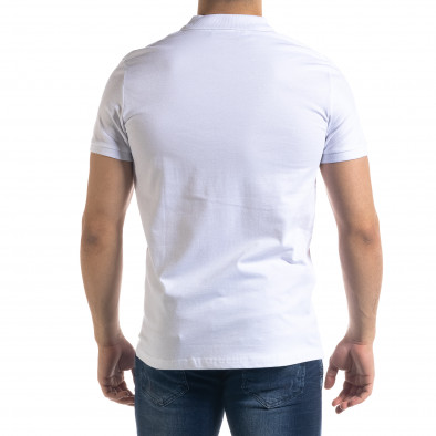 Basic мъжка бяла тениска polo shirt tr110320-72 3