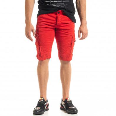 Мъжки червени къси карго панталони tr140520-14 3