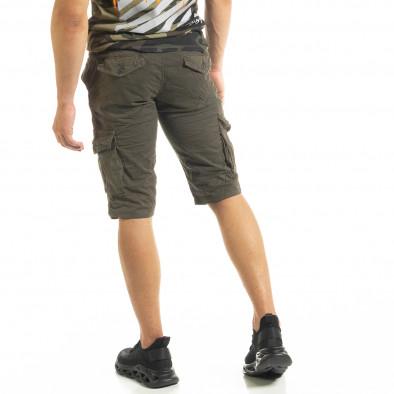 Мъжки зелени къси карго панталони tr140520-12 4