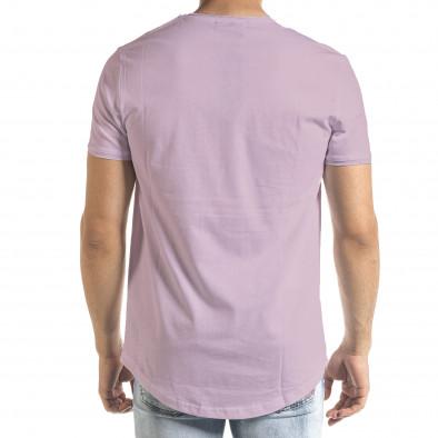 Basic мъжка тениска в светло лилаво tr140721-2 4