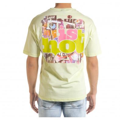 Мъжка зелена тениска с колоритен принт tr080520-3 4