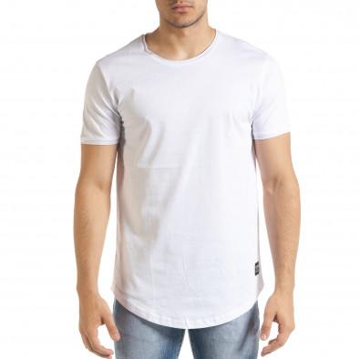 Basic мъжка тениска в бяло tr080520-40 2