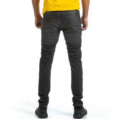 Long Slim черни дънки с избелял ефект tr070921-11 4