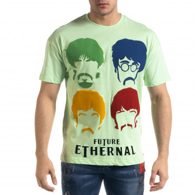 Мъжка зелена тениска The Beatles Oversize tr110320-4 2