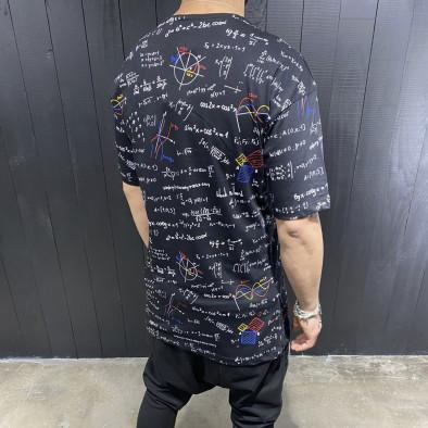 Мъжка черна тениска принт Maths tr110320-85 3