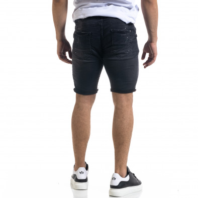 Черни мъжки къси дънки с връзка на кръста tr110320-125 3