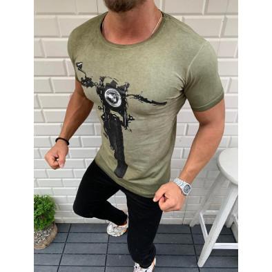 Vintage зелена мъжка тениска Bike tr110320-26 2