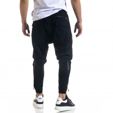 Лек мъжки панталон в черно с акценти tr110320-126 4
