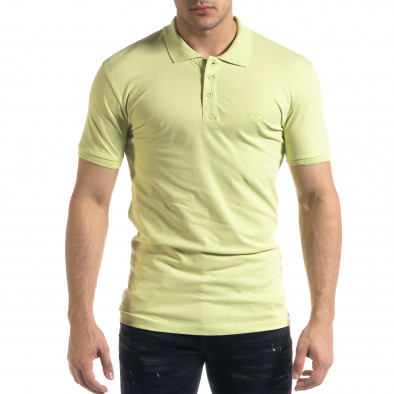 Мъжка тениска пике Polo shirt в зелено tr110320-18 2
