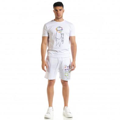 Бял мъжки спортен комплект 2020 tr080520-66 3