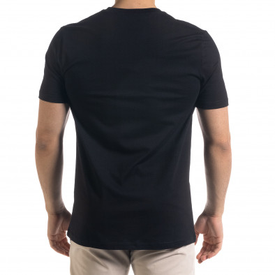 Мъжка черна тенска V-образна платка tr110320-76 3