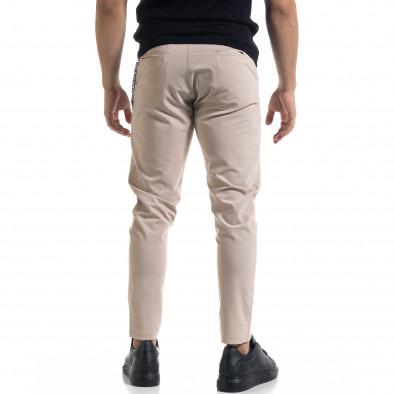 Лек мъжки бежов панталон с аксесоар tr110320-120 3