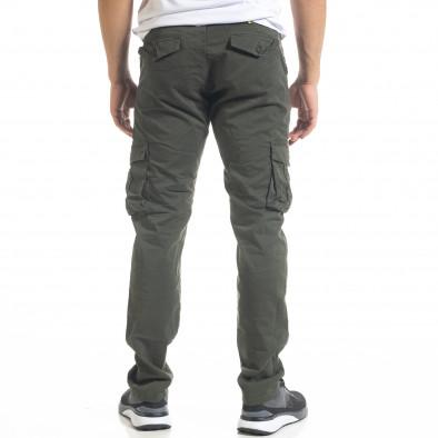 Зелен мъжки панталон Cargo с прави крачоли tr240420-28 4