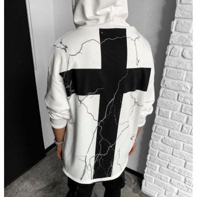 Мъжки бял суичър с кръстове tr131120-5 3