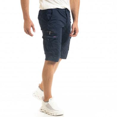 Мъжки тъмносини къси карго панталони tr140520-15 2