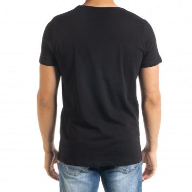 Мъжка тениска Panda Grass в черно tr080520-24 3