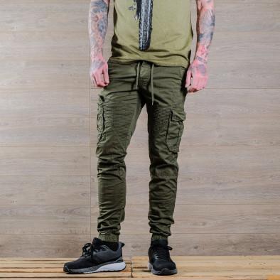 Зелен мъжки Cargo Jogger в рокерски стил tr170320-3 3