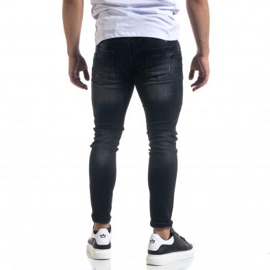 Мъжки черни дънки Slim fit с пръски боя tr110320-108 3