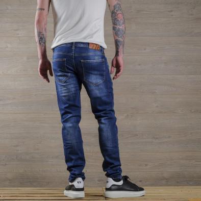 Slim fit мъжки сини дънки с леки прокъсвания tr030420-2 4